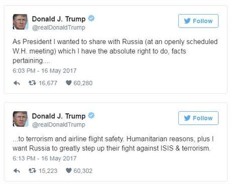 Trump: La tong thong, toi hoan toan co quyen chia se thong tin voi Nga - Anh 4