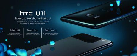 HTC U11 chinh thuc ra mat: Cong nghe bop vien - Anh 1