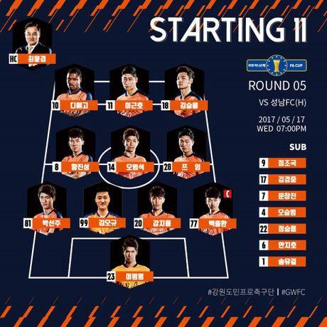 Gangwon vs Seongnam (0-1): Xuan Truong roi san, doi nha nhan ban thua - Anh 1