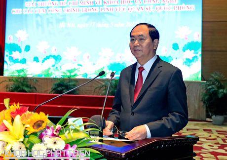 Chu tich Nuoc trao Giai thuong Ho Chi Minh linh vuc quan su, quoc phong - Anh 1