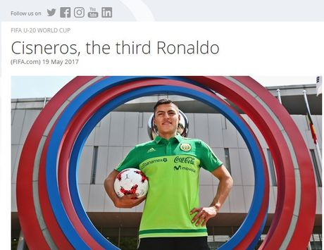 Ronaldo the he thu 3 ghi ban o U20 World Cup - Anh 1