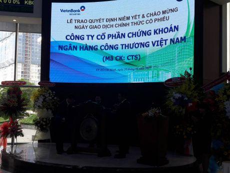 Co phieu CTS cua VietinbankSc chinh thuc len san HOSE - Anh 1
