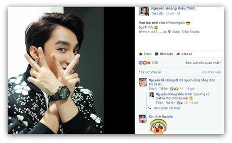 Hot girl Kieu Trinh bat ngo khoe Son Tung M-TP la 'ban trai moi' - Anh 1