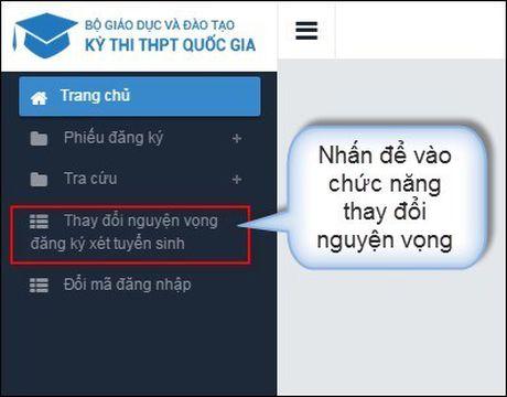 Huong dan thao tac thay doi nguyen vong tren online va mau giay - Anh 1