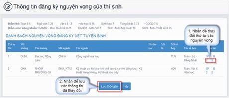 Huong dan thao tac thay doi nguyen vong tren online va mau giay - Anh 7