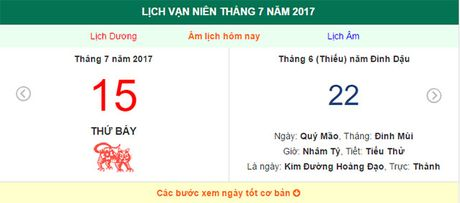 Am lich hom nay (22.6, tuc 15.7 duong lich): Nhung dieu nen tranh - Anh 1