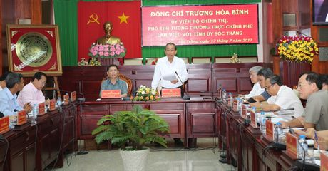 Pho Thu tuong Truong Hoa Binh lam viec tai tinh Soc Trang ve cong tac dan toc - Anh 2
