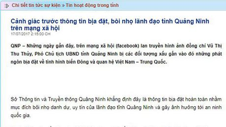 Bo Cong an vao cuoc vu boi nho PCT Quang Ninh tren Facebook - Anh 1