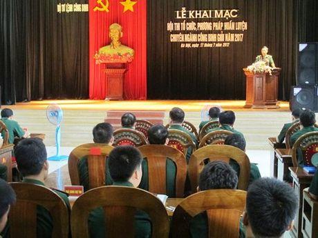 Khai mac Hoi thi to chuc, phuong phap huan luyen chuyen nganh cong binh - Anh 1