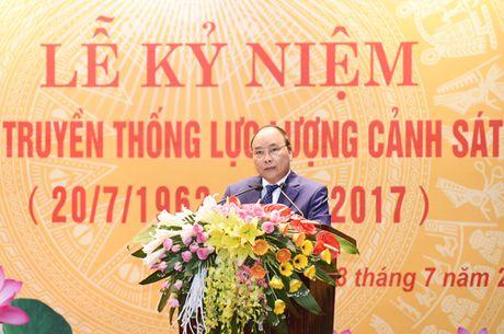 Phat bieu cua Thu tuong tai Le ky niem 55 nam Ngay truyen thong Canh sat nhan dan - Anh 1