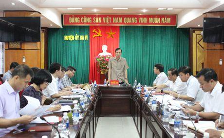 Pho Bi thu Thanh uy Dao Duc Toan lam viec voi huyen Ba Vi - Anh 2