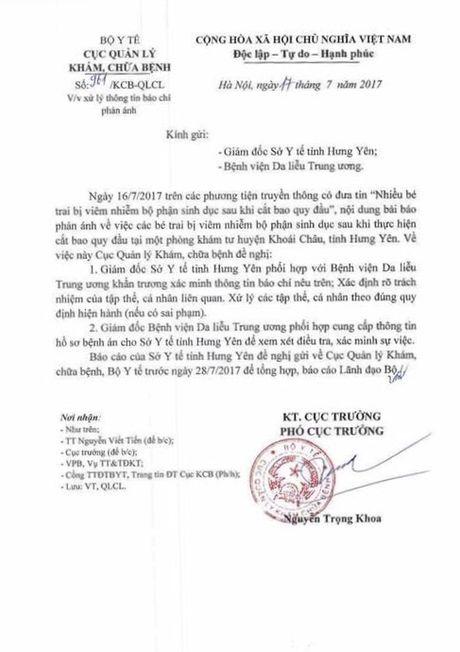 Bo Y te yeu cau truy nguyen nhan hang loat tre bi sui mao ga o Hung Yen - Anh 1