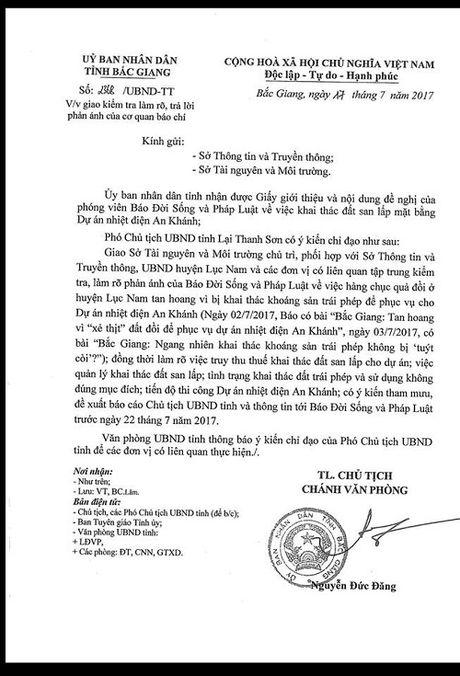 Khai thac khoang san trai phep tai Bac Giang(?): UBND tinh chi dao lam ro thong tin bao chi phan anh - Anh 2