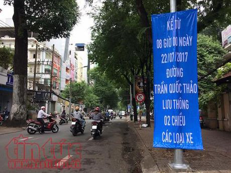 Tu ngay 22/7, dieu chinh phan luong giao thong tren duong Tran Quoc Thao va Le Quy Don - Anh 2