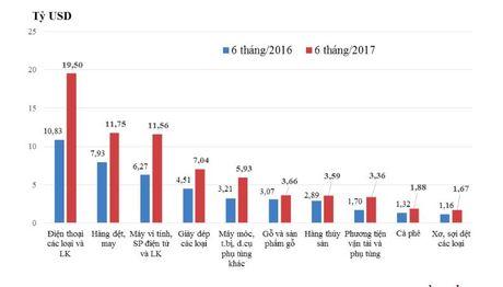 19 nhom hang 'ty do' trong buc tranh xuat khau Viet Nam nua dau 2017 - Anh 1