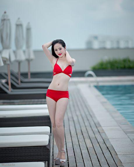 Thi sinh chung ket Hoa khoi Nam Bo tu tin khoe dang - Anh 3