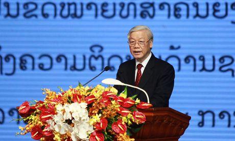 Tong Bi thu Nguyen Phu Trong: Vun dap moi quan he Viet - Lao vung ben hon nui, hon song - Anh 1