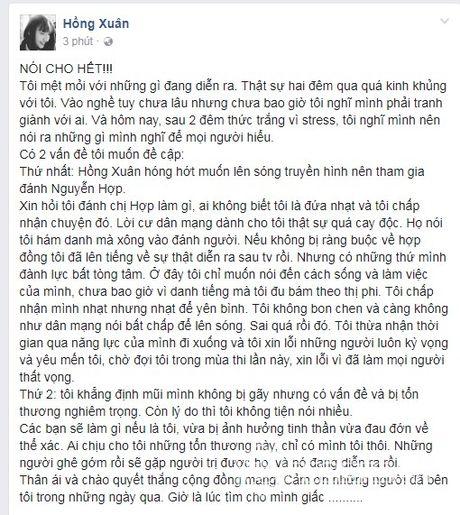 Hong Xuan Next top len tieng chuyen danh Nguyen Hop, thua nhan mui bi ton thuong - Anh 2