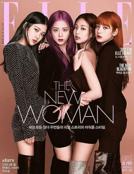 Black Pink tro thanh nhom nhac nu dau tien cua K-pop len bia tap chi Elle - Anh 1