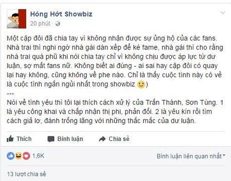 Giua 'bao' scandal tinh cam: Soobin - Hien Ho bi am chi phai chia tay vi ap luc du luan, Toc Tien dang status kho hieu - Anh 1