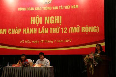 Hoi nghi BCH CD GTVT Viet Nam lan thu XII: Day manh san xuat dam bao doi song nguoi lao dong - Anh 1