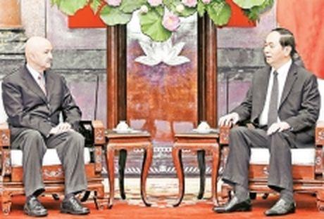 Chu tich nuoc Tran Dai Quang tiep nguyen Tong thong Me-hi-co D.Go-ta-ri - Anh 1