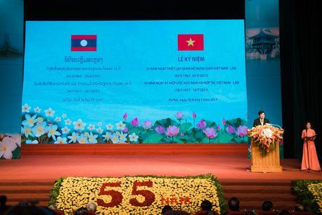 Chum anh: Le ky niem 55 nam quan he Viet Nam - Lao - Anh 1