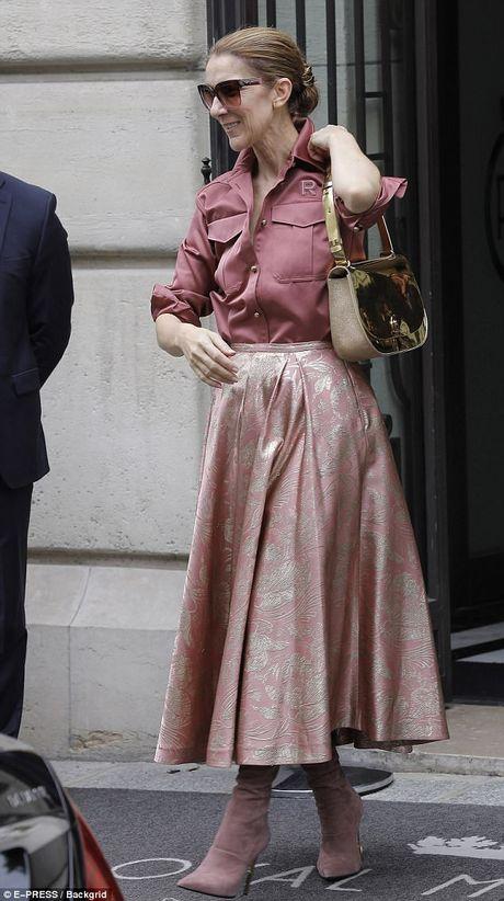 Celine Dion tuoi 49 van tu tin dien ca 'cay hong' - Anh 2