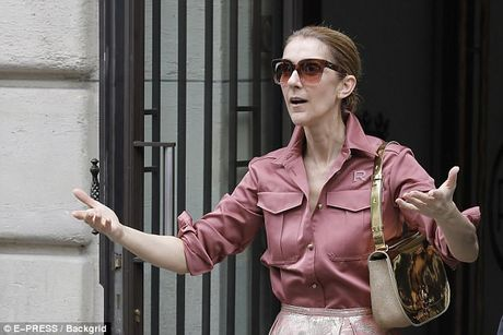 Celine Dion tuoi 49 van tu tin dien ca 'cay hong' - Anh 4