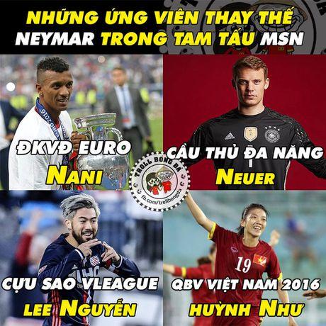 Biem hoa 24h: Cu dan mang tien cu sao Viet Nam thay Neymar o Barca - Anh 5