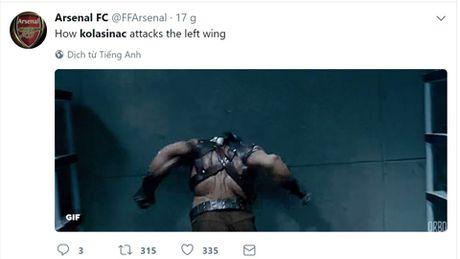 'Xe tang, ke huy diet, Hulk cua Bosnia...', fan Arsenal thi nhau dat biet danh cho tan binh Kolasinac - Anh 4