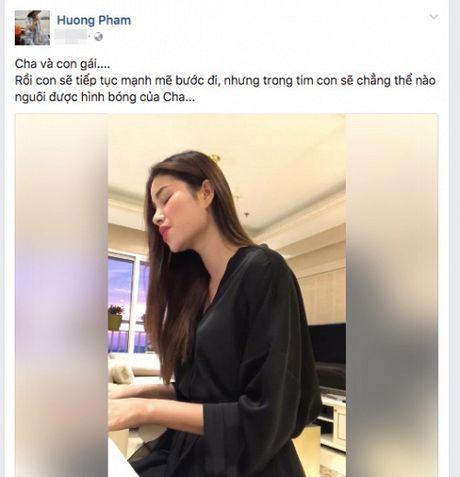 Hoa hau Pham Huong gay go sau dam tang, dan hat 'Cha va con gai' gay xuc dong - Anh 1