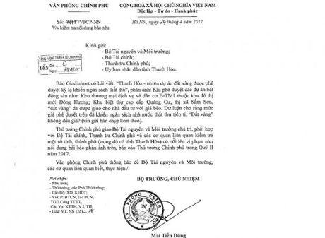 Hoan tat qua trinh thanh tra vu dat vang gia 'beo' o Thanh Hoa - Anh 2