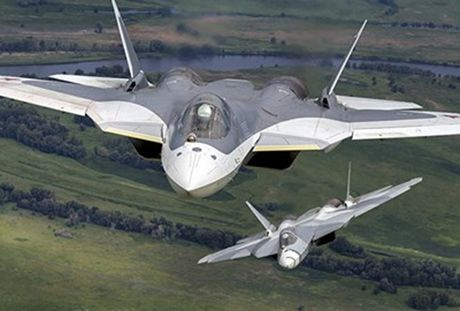 Su xuat hien day bat ngo cua chien dau co the he nam Su-57 - Anh 1