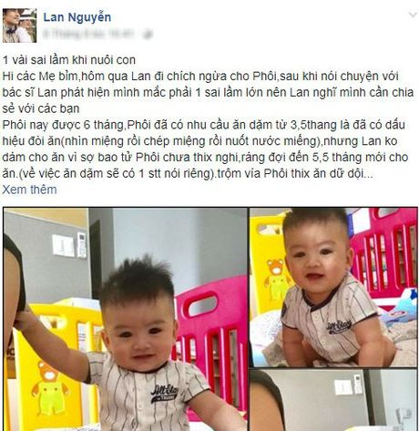 Dien vien Ngoc Lan chia se sai lam khong ngo khi cham con khien be cham tang can - Anh 2