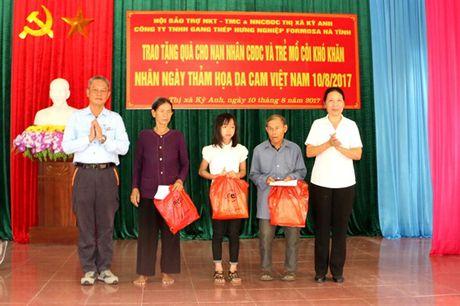 Trao gan 230 trieu dong cho nan nhan chat doc da cam o Ky Anh - Anh 1
