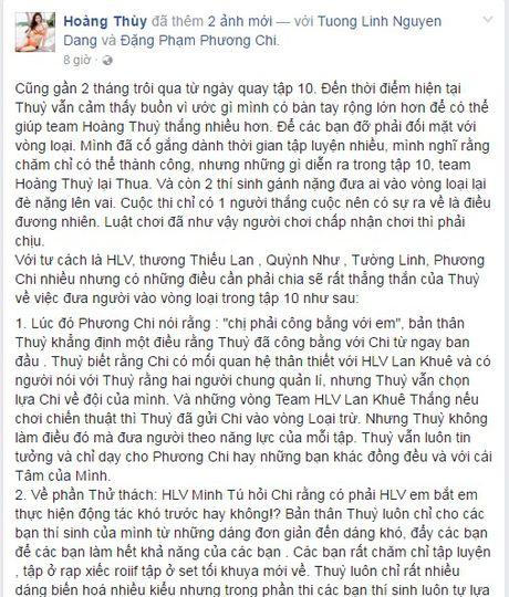 Hoang Thuy viet 'tam thu' sau khi bi noi khong cong bang voi Phuong Chi - Anh 3