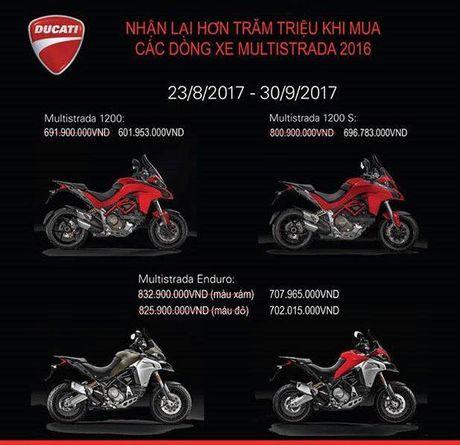Ducati Multistrada giam hon 100 trieu dong trong thang Ngau - Anh 3