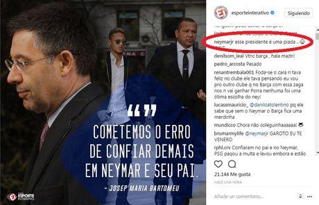 Neymar cong khai goi chu tich Barcelona la 'ten he' - Anh 1