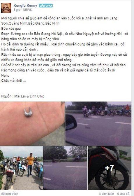 Cong an vao cuoc vu dinh tac hoanh hanh o cao toc Ha Noi - Bac Giang - Anh 2