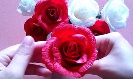 Cach lam hoa hong bang giay rang ro nhu hoa that - Anh 3