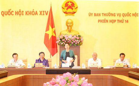 Khai mac Phien hop thu 14 cua Uy ban Thuong vu Quoc hoi - Anh 1