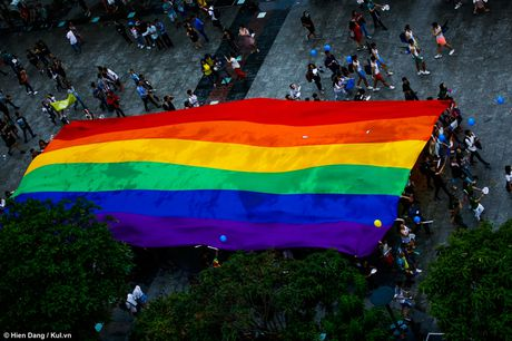 Sai Gon: Mau cau vong ngap tran pho di bo trong ngay hoi LGBT - Anh 19