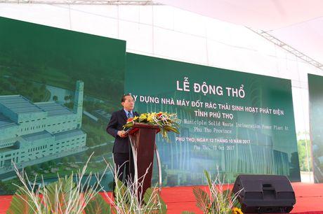 Phu Tho khoi cong nha may dot rac thai sinh hoat phat dien - Anh 3