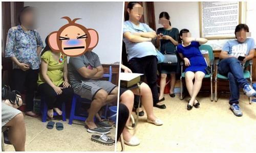 Bức xúc chồng chiếm ghế, bà bầu đứng la liệt trong phòng khám