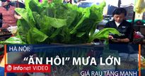 Hà Nội: Giá rau tăng mạnh do mưa lớn