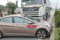 Thêm một vụ xe tải đâm xế hộp trên QL 1A ở Can Lộc