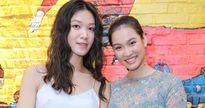 Hoa hậu Thùy Dung sành điệu chúc mừng siêu mẫu Vương Thu Phương