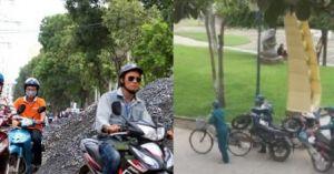 Clip hot tổng hợp: Quá tài - dân phòng dùng 1 xe đạp 'hốt' 3 xe ga