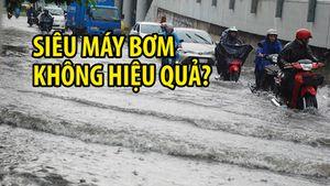 Siêu máy bơm không hiệu quả: Dưới miệng cống đường Nguyễn Hữu Cảnh đầy rác